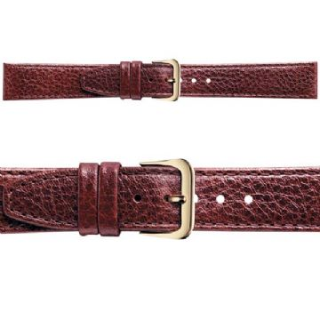Buffalo Grain Strap Brown Leather